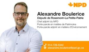 Alexandre Boulerice, Député NPD de Rosemont-La Petite-Patrie